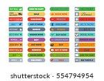 shop buttons vector set. | Shutterstock .eps vector #554794954
