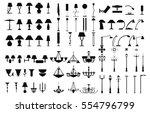 modern lightning standing ...   Shutterstock .eps vector #554796799