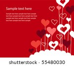 background with growing hearts | Shutterstock .eps vector #55480030