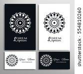 black and white mandala...   Shutterstock .eps vector #554810260