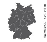 germany map with | Shutterstock .eps vector #554814148