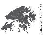 vector map hongkong country on... | Shutterstock .eps vector #554814154