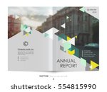 cover design annual report... | Shutterstock .eps vector #554815990