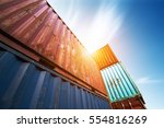 container container ship in... | Shutterstock . vector #554816269