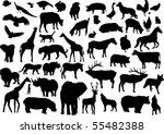 vector animals silhouettes | Shutterstock .eps vector #55482388