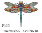 Stock vector doodle sketch dragonfly stylized animal insect for tattoo t shirt poster invitation card 554823913