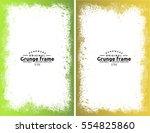 grunge frame texture set  ... | Shutterstock .eps vector #554825860