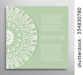 invitation or card template... | Shutterstock .eps vector #554830780