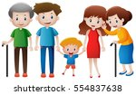 many people in family... | Shutterstock .eps vector #554837638