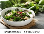 Healthy Raw Kale And Quinoa...