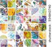 artwork seamless texture with... | Shutterstock . vector #554843740