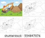 cartoon excavator. coloring...   Shutterstock .eps vector #554847076