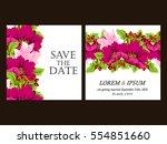 vintage delicate invitation... | Shutterstock . vector #554851660