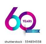 sixty years anniversary... | Shutterstock .eps vector #554854558