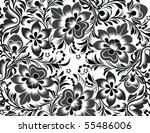 black floral ornament | Shutterstock .eps vector #55486006