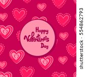 happy valentine's day greeting... | Shutterstock .eps vector #554862793