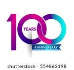 100th years anniversary... | Shutterstock .eps vector #554863198