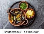 Shellfish Mussels In Copper...
