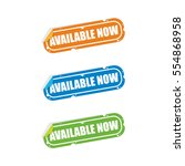 available now sticker labels | Shutterstock .eps vector #554868958