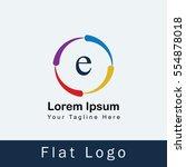 e alphabet logo design for your ... | Shutterstock .eps vector #554878018