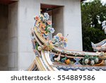 chinese arts in thailand temple. | Shutterstock . vector #554889586