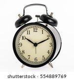 Close Up Black Alarm Clock...