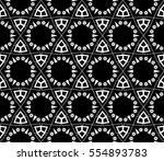 black and white geometric... | Shutterstock . vector #554893783