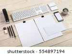 photo. template for branding... | Shutterstock . vector #554897194
