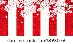 cherry spring flower background | Shutterstock .eps vector #554898076