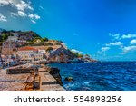 hydra island on a summer day in ... | Shutterstock . vector #554898256