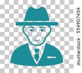 agent vector icon. illustration ... | Shutterstock .eps vector #554907454