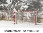 Goal Post Snow  Winter    Red...