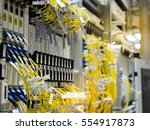 the optical fiber and card... | Shutterstock . vector #554917873