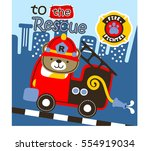 fire engine to the rescue in... | Shutterstock .eps vector #554919034