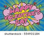 pop art comics icon happy... | Shutterstock .eps vector #554931184