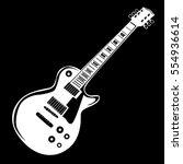guitar isolated on black vector ... | Shutterstock .eps vector #554936614