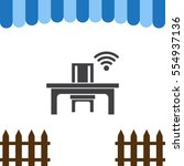 wifi icon vector flat design...