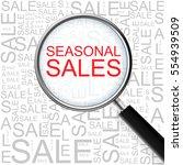 seasonal sales. magnifying... | Shutterstock .eps vector #554939509