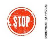 red rubber stamp with the word... | Shutterstock .eps vector #554942923