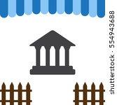 bank icon vector flat design... | Shutterstock .eps vector #554943688