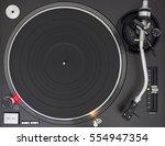 professional dj turntable ... | Shutterstock . vector #554947354