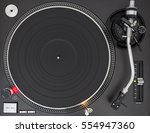professional dj turntable ... | Shutterstock . vector #554947360