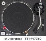 professional dj turntable ... | Shutterstock . vector #554947360