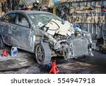 editorial use only  crashed car ... | Shutterstock . vector #554947918