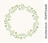 green wreath. vector isolated.... | Shutterstock .eps vector #554951668