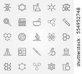chemistry icons set. vector...   Shutterstock .eps vector #554952748