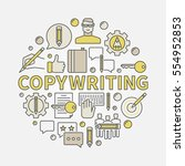 copywriting round colorful... | Shutterstock .eps vector #554952853