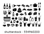 food. the icons set. vector... | Shutterstock .eps vector #554960203