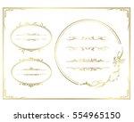 frame set vector  | Shutterstock .eps vector #554965150