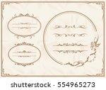 frame set vector  | Shutterstock .eps vector #554965273